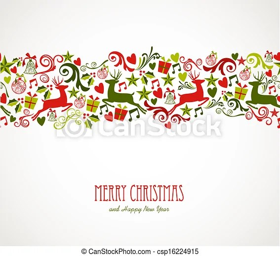 merry christmas decorations elements