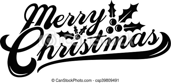 Merry Christmas Text Font Graphic