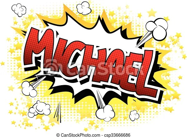 Michael Comic Book Style Male Name Michael Comic Book