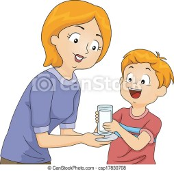 milk clipart illustration mother son icon handing glass clip drawing