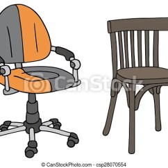 Office Chair Illustration Leather Wingback Uk Modern And Old Chairs Hand Drawing Of Vintage Csp28070554