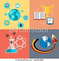 Modern education and science concept. Flat design concept ...