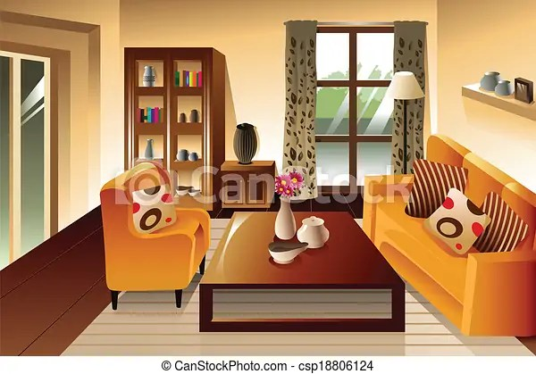 living room pictures clipart simple hall false ceiling designs for modern space a vector illustration of csp18806124