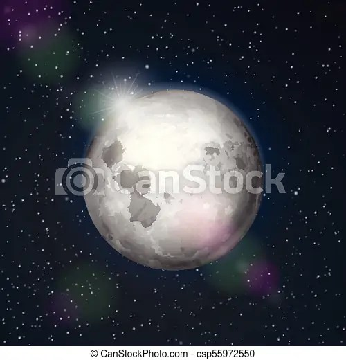 Moon space. Abstract space background with moon.