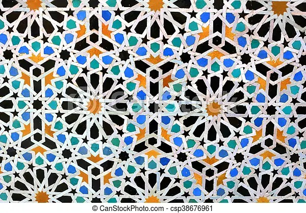 https www canstockphoto com moroccan mosaic tiles on wall 38676961 html