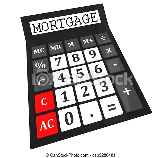 mortgage calculator isolated