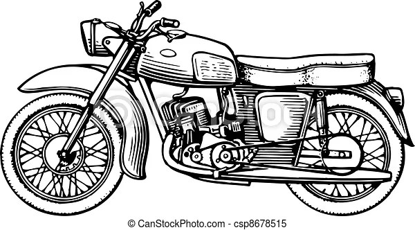 Motorcycle isolated on white background clipart vector
