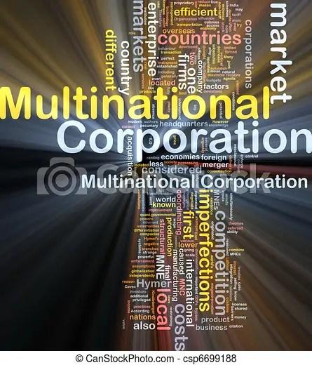 Multinational corporation background concept glowing. Background concept wordcloud illustration ...