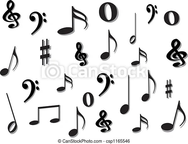 Music notes. Music notes.
