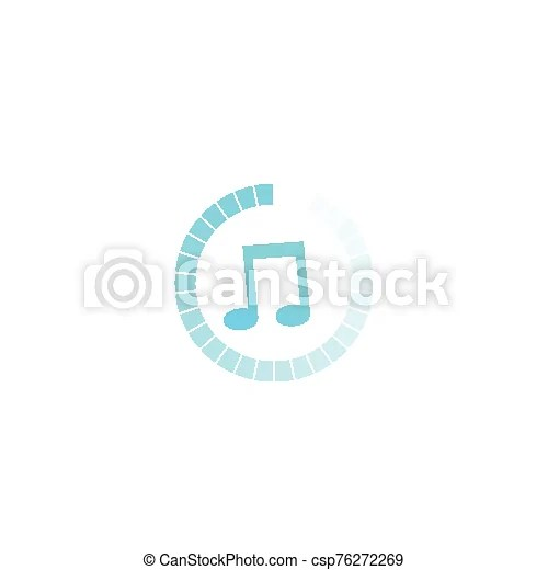 Music streaming, vector icon, eps 10 file, easy to edit.