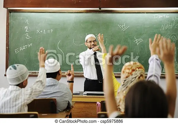 Muslim Girl Wallpaper Free Muslim Male Teachers In Classroom With Childrens