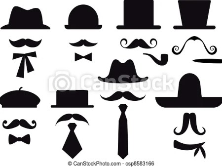 mustache and hats vector set mustaches hats and ties clip art vector search drawings