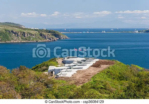Naval military fortifications and artillery protecting vladivostok, russia. Naval military fortifications and artillery protecting vladivostok ...