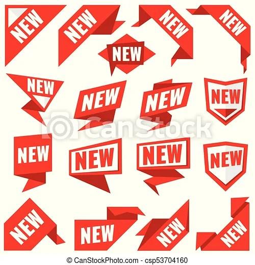 new stickers vector modern