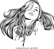 nice woman with beautiful hair