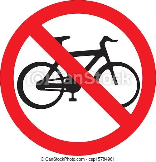 no bicycle sign no