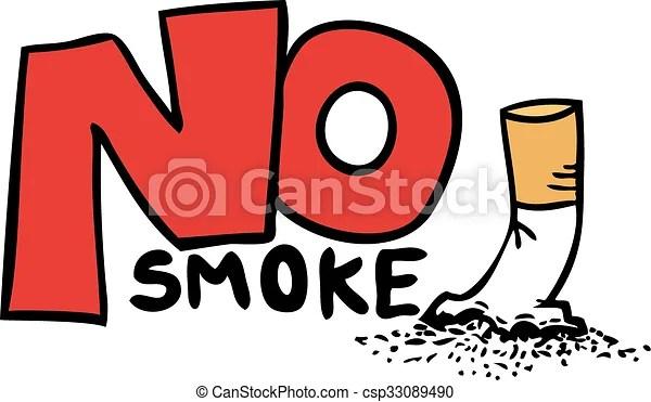 no smoke message