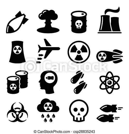 Nuclear weapon, nuclear factory . Nuclear power plant