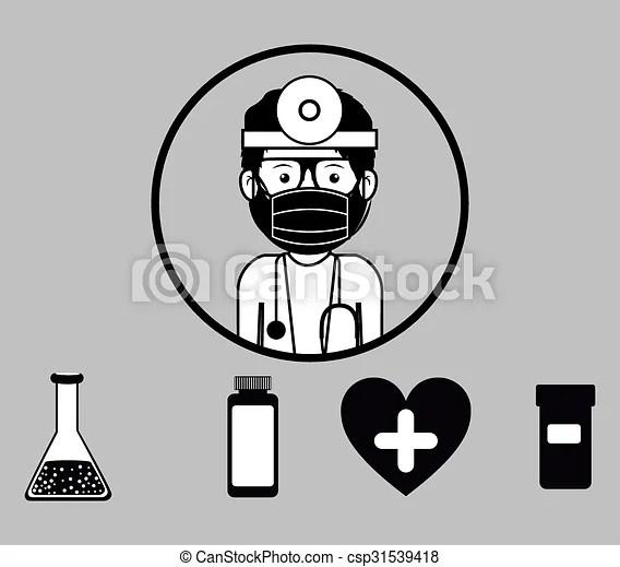Occupational medicine, vector illustration. Occupational
