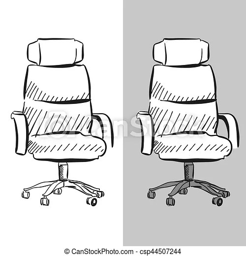 office chair vector desk teenager sketch hand drawn clipart csp44507244