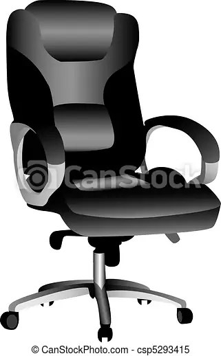 office chair illustration leather seat covers a 3d of an isolated on csp5293415