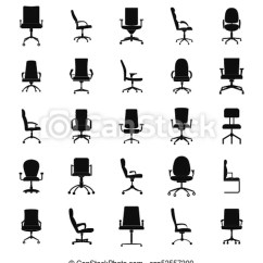 Office Chair Vector Dining Room Covers For Sale Icons Set Simple Style Csp53557300