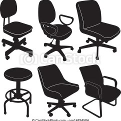 Office Chair Illustration Outdoor Rattan Hanging Silhouette Vector Isolated On Csp14824584