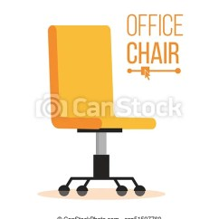 Office Chair Illustration Cowhide Desk Vector Business Hiring And Recruiting Empty Seat For Employee Ergonomic Armchair