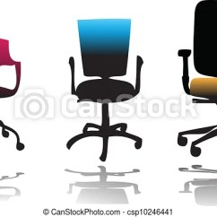 Office Chair Illustration High Replacement Cover Chairs Color Vector Csp10246441