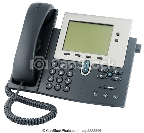 office ip telephone above view csp2222596