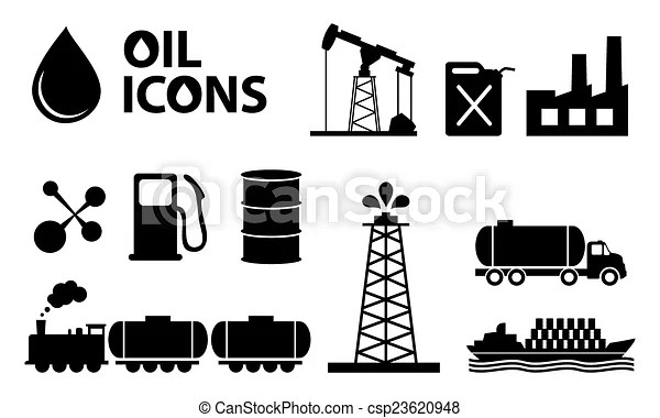 Oil icons in black color.