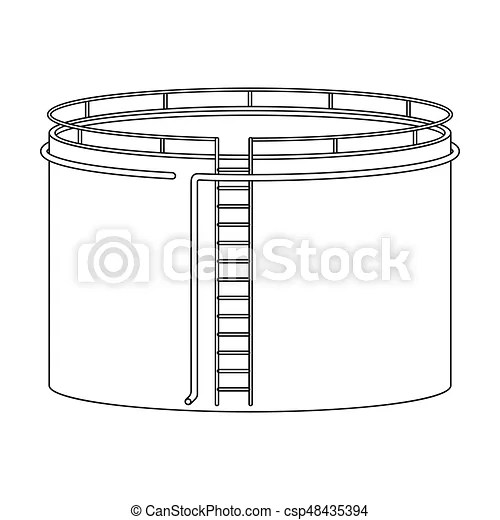 Oil storage tank.oil single icon in outline style vector