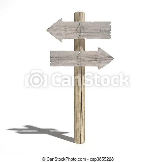 old wood direction signs