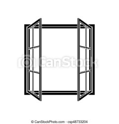 window open frame vector clipart icon illustration text line own drawing clip drawings illustrations wooden eps canstockphoto graphic