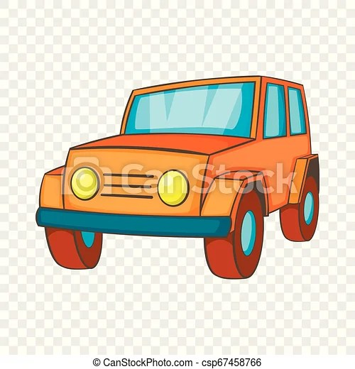 orange jeep icon in