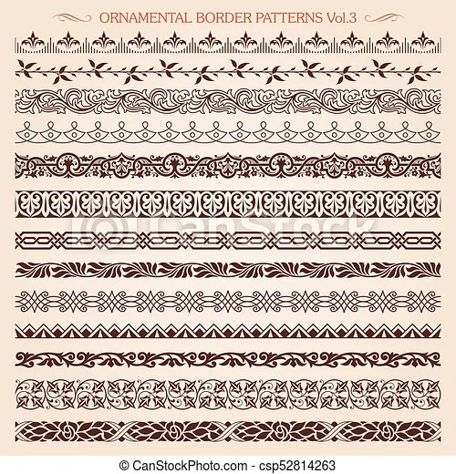 ornamental border frame line