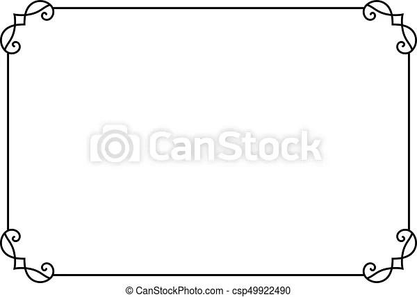 Ornamental decorative page frame. vector line style border