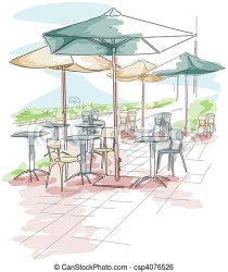 outdoor dining clipart seating illustration chairs tables drawing clip graphic icon vector setup drawings clipground line cliparts canstockphoto