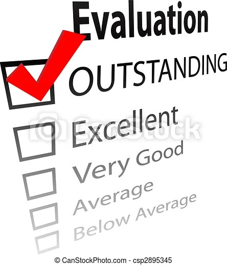 Outstanding job evalution check boxes. An evaluation for