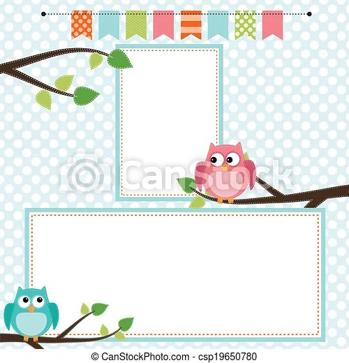 owl scrapbooking template with