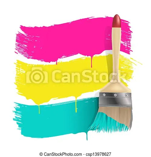 paint brush with color