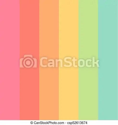 Pastel Colors Rainbow Stripes Background Vector