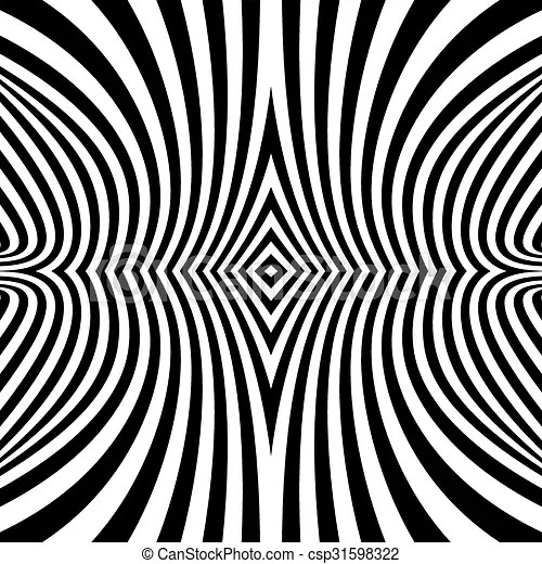 pattern with optical illusion