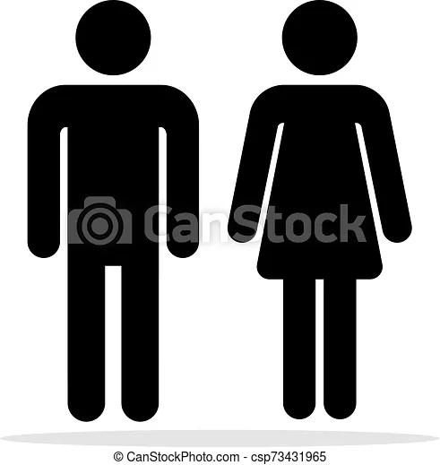 People Bathroom Icons Men And Women Toilet Symbols Female And Male Bathrooms Vector Signs Woman And Man Silhouettes For Wc
