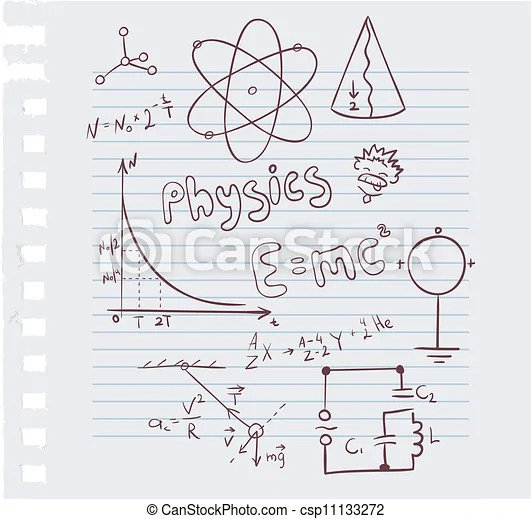 Vector illustration of physics set.