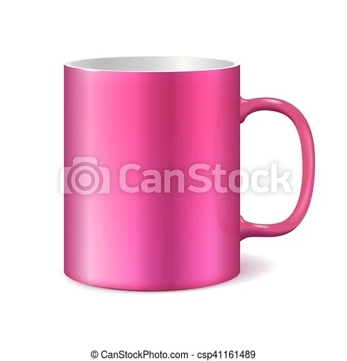 pink cup isolated on