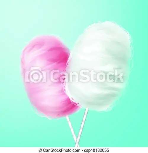 pink white cotton candy