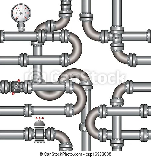 Vector illustration of pipeline seamless pattern.