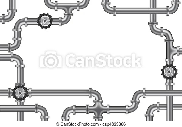 Pipelines with valve and lots of copy space frame for