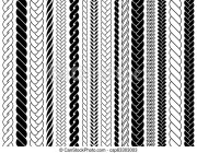 plaits and braids pattern brushes
